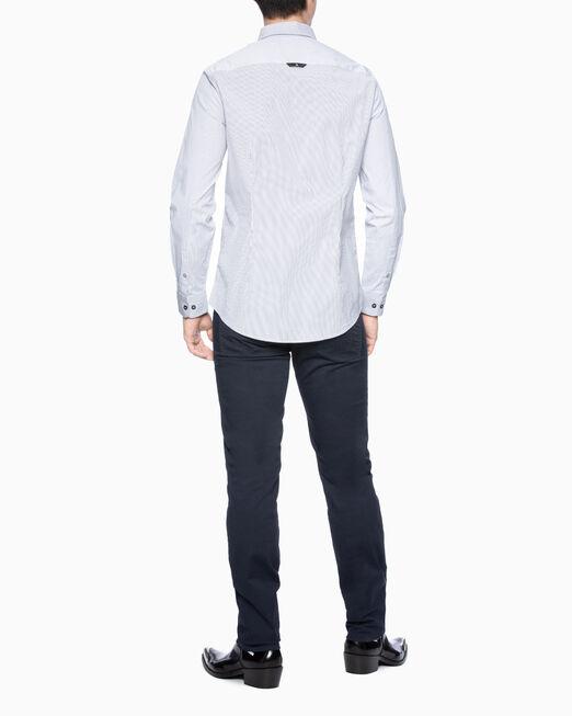 CALVIN KLEIN 남성 스트라이프 패턴 슬림핏 셔츠