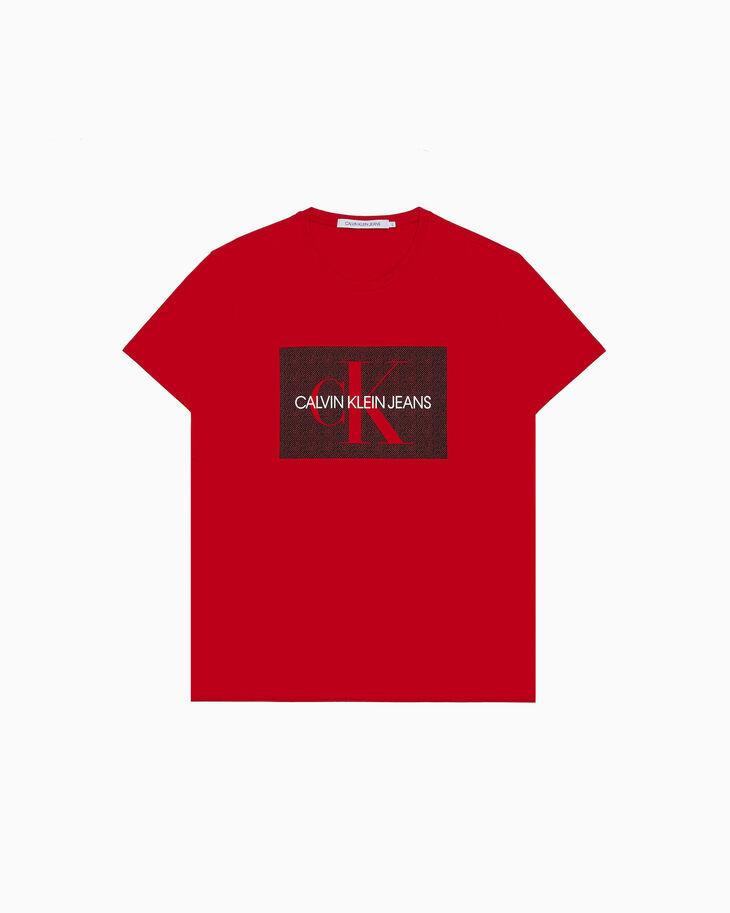 CALVIN KLEIN 모노그램 픽셀레이티드 프린트 티셔츠