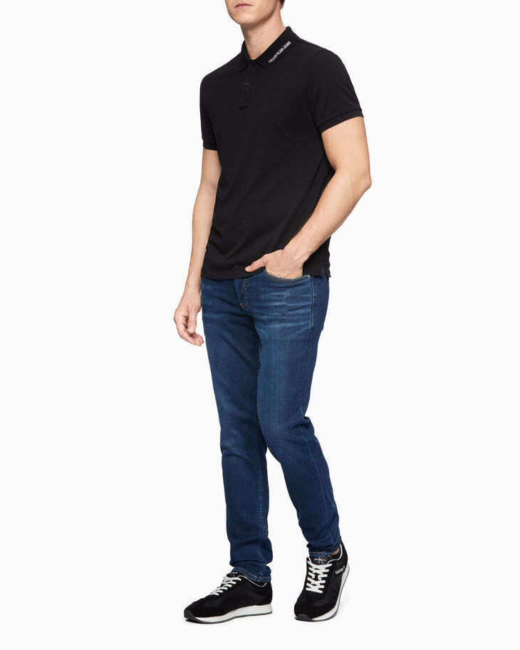 CALVIN KLEIN EMBROIDERED COLLAR POLO SHIRT