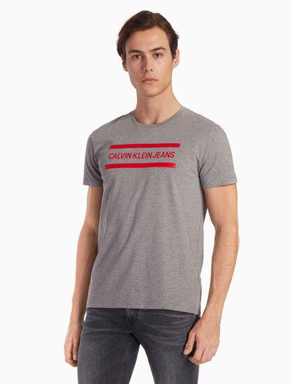 CALVIN KLEIN 로고 프린트 티셔츠