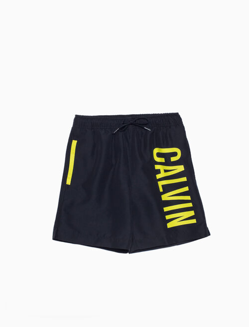 CALVIN KLEIN BOYS LOGO SWIM SHORTS