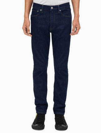 CALVIN KLEIN MEN WARHOL PORTRAIT DENIM ATHLETIC TAPER JEANS