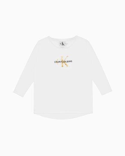 CALVIN KLEIN GOLD MONOGRAM LOGO ロングスリーブ T シャツ