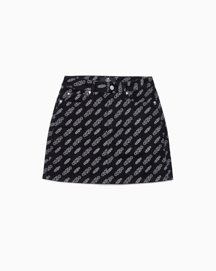 CALVIN KLEIN CK50 HIGH RISE PRINTED MINI SKIRT