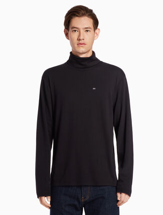 CALVIN KLEIN LOGO TURTLENECK JUMPER