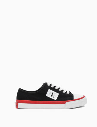 CALVIN KLEIN IVORY LACE UP SNEAKERS
