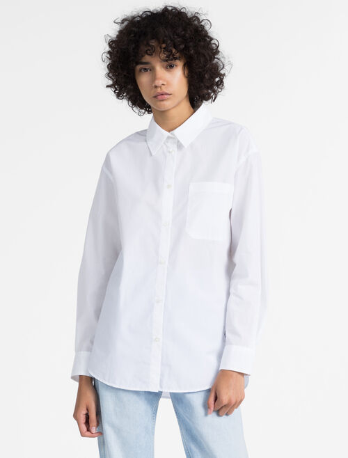 CALVIN KLEIN オーバーサイズ ポプリンシャツ