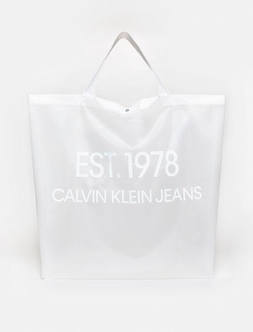 CALVIN KLEIN EST 1978 LOGO BIG TOTE BAG