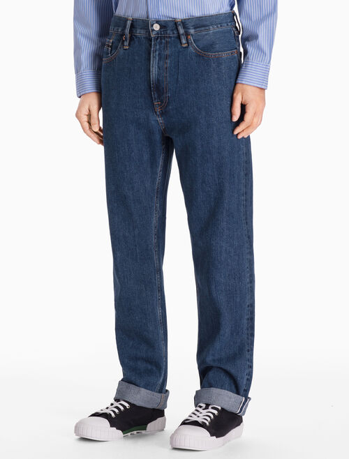 CALVIN KLEIN CHRISTIANE BLUE HIGH STRAIGHT JEANS