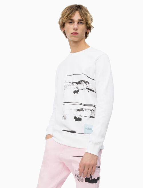 CALVIN KLEIN ANDY WARHOL PHOTO ART SWEATSHIRT