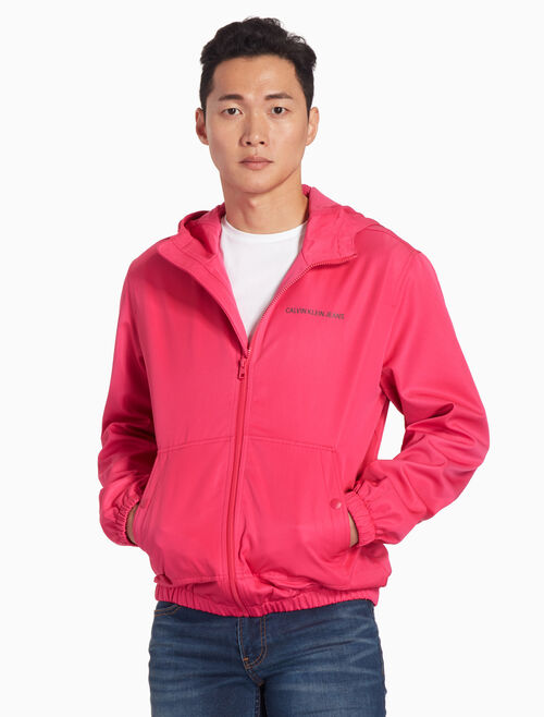 CALVIN KLEIN NYLON HOODED ZIP JACKET