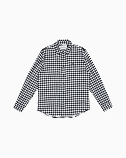 CALVIN KLEIN BUFFALO CHECK BRUSHED SHIRT