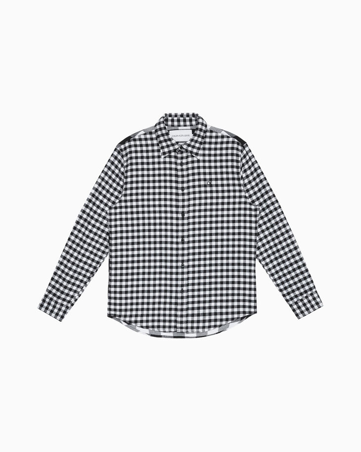 CALVIN KLEIN BUFFALO CHECK BRUSHED 셔츠
