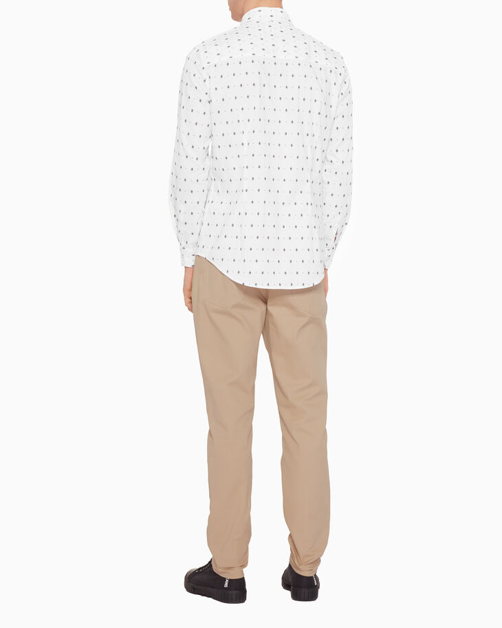 CALVIN KLEIN ALL OVER PRINT OXFORD DOBBY SHIRT