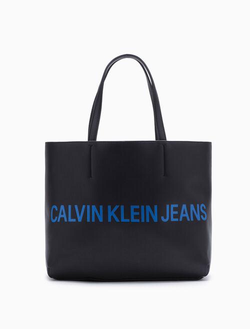 CALVIN KLEIN Logo 토트 백