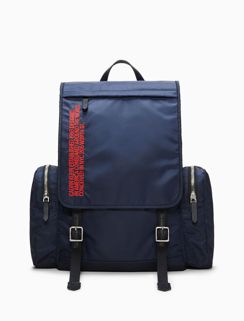CALVIN KLEIN Embroidered Flap Backpack