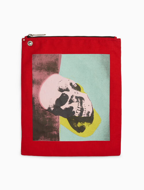 CALVIN KLEIN skull pouch