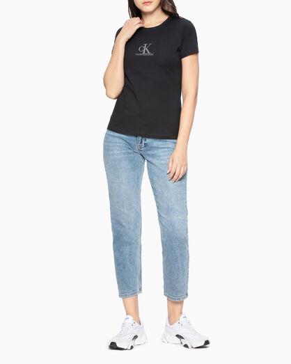 CALVIN KLEIN CRYSTAL LOGO SLIM 티셔츠