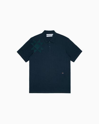 CALVIN KLEIN 기하학 자수 폴로 셔츠