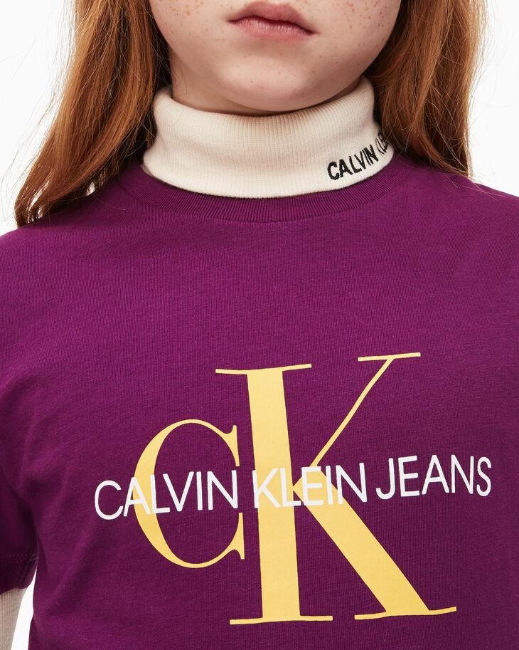 CALVIN KLEIN 여아용 모노그램 로고 티셔츠