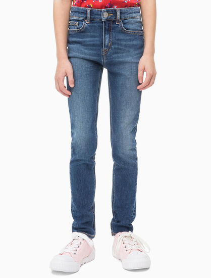 CALVIN KLEIN GIRLS HIGH RISE STRAIGHT JEANS