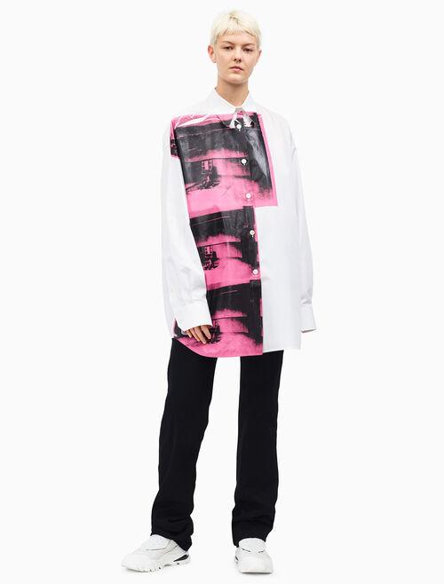 CALVIN KLEIN 오버사이즈 리틀 일렉트릭 체어 셔츠