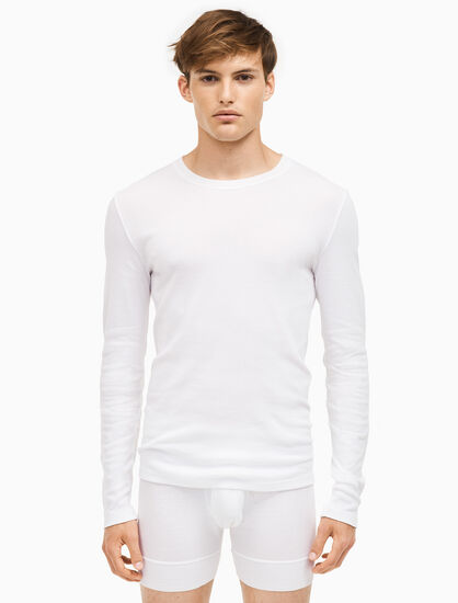 CALVIN KLEIN 205W39NYC 3개입 크루넥 긴소매 셔츠