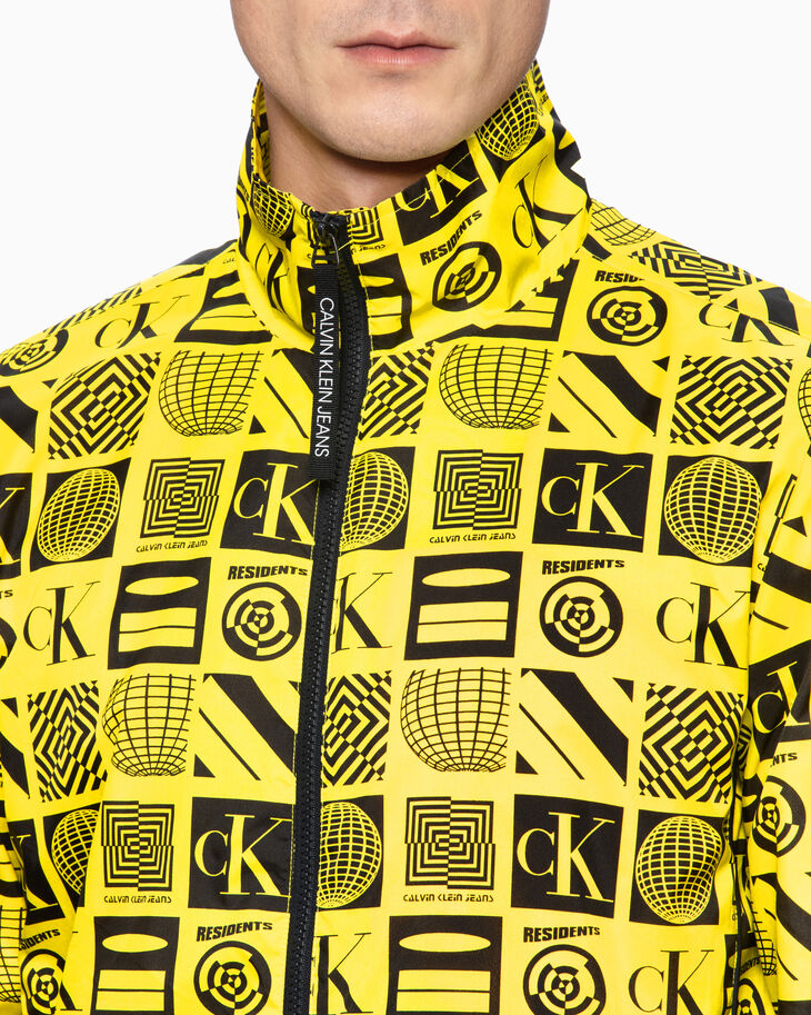 CALVIN KLEIN ALL-OVER PRINT HARRINGTON JACKET