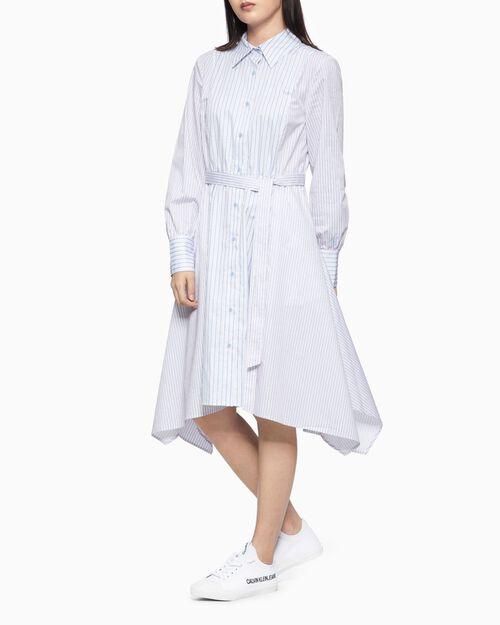 CALVIN KLEIN ASYMMETRIC SHIRT DRESS