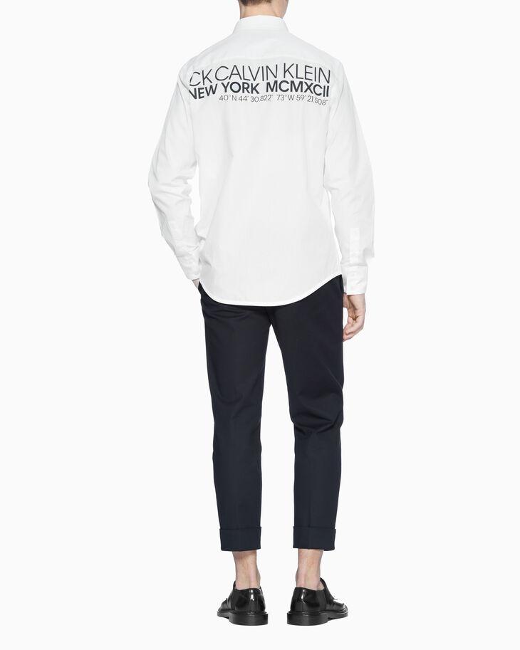 CALVIN KLEIN 오버사이즈 포플린 로고 셔츠