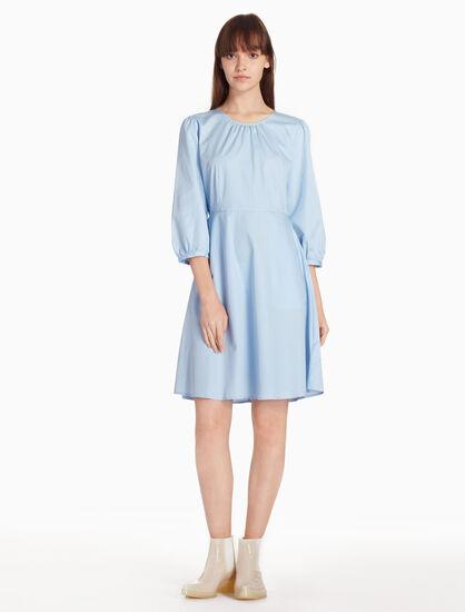 CALVIN KLEIN FLARED ROUND DRESS
