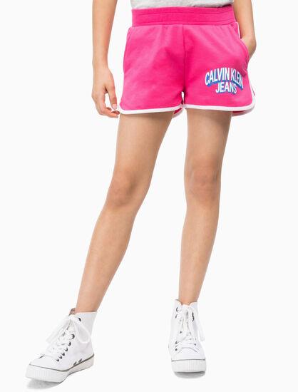 CALVIN KLEIN 女孩款 LOGO 運動風短褲