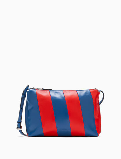 CALVIN KLEIN COLOR BLOCK POUCH WITH REMOVABLE STRAP