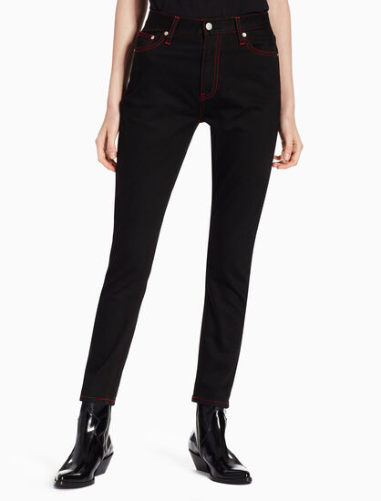 CALVIN KLEIN CKJ 020 WOMEN HIGH RISE SLIM JEANS