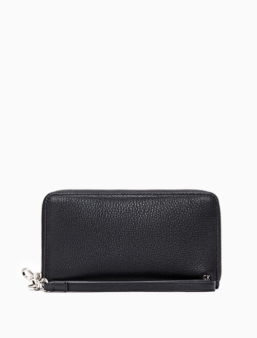 CALVIN KLEIN ZIP AROUND WALLET WITH PHONE CASE