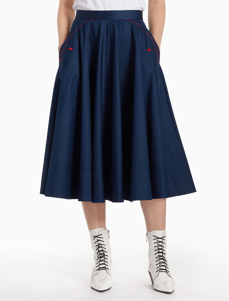 CALVIN KLEIN Z TWIST FLARED SKIRT