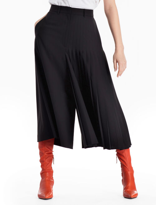 CALVIN KLEIN HALF-PLEATED WIDE LEG CULOTTES