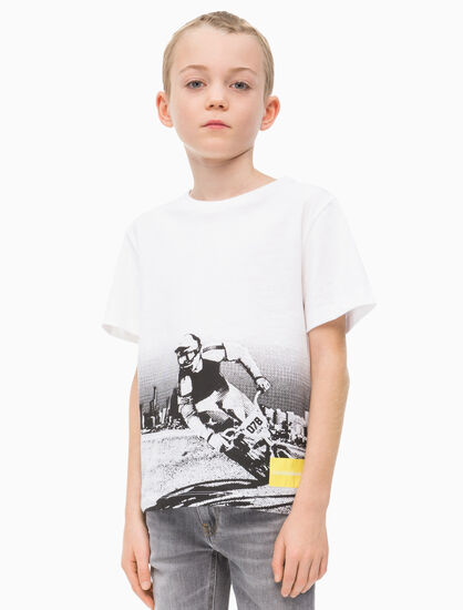 CALVIN KLEIN BOYS BMX PHOTO PRINT TEE