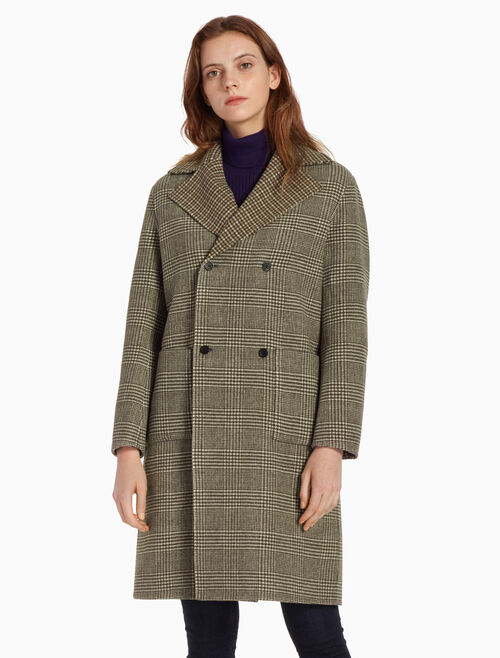CALVIN KLEIN DOUBLE BREASTED WOOL COAT