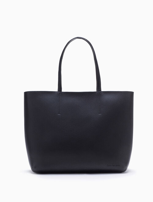 CALVIN KLEIN ULTRA LIGHT LARGE SHOPPING TOTE WITH ZIPPER