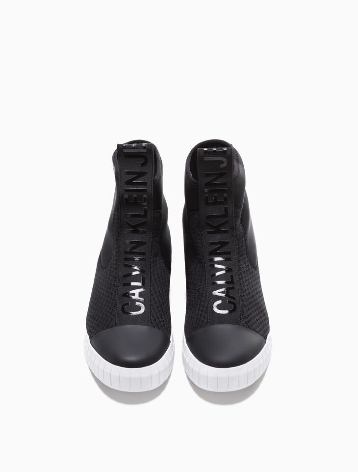 CALVIN KLEIN BARDO HIGH TOP SLIP ON TRAINERS