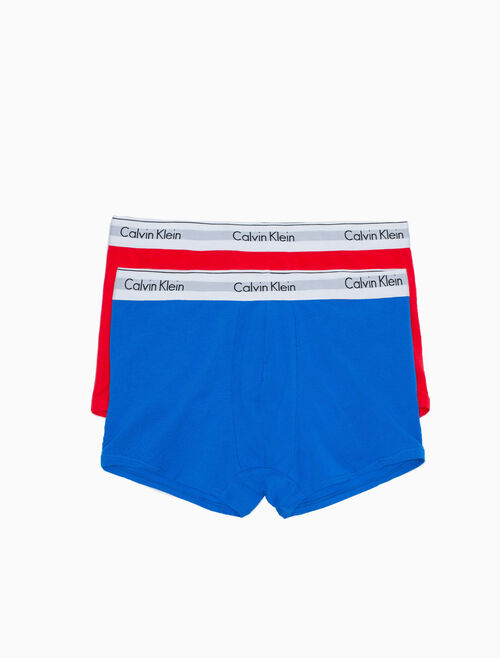 CALVIN KLEIN MODERN COTTON STRETCH TRUNKS 2 PACK