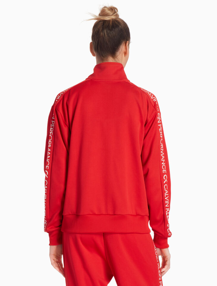 CALVIN KLEIN RE-EMERGE LOGO TAPE TRACK JACKET