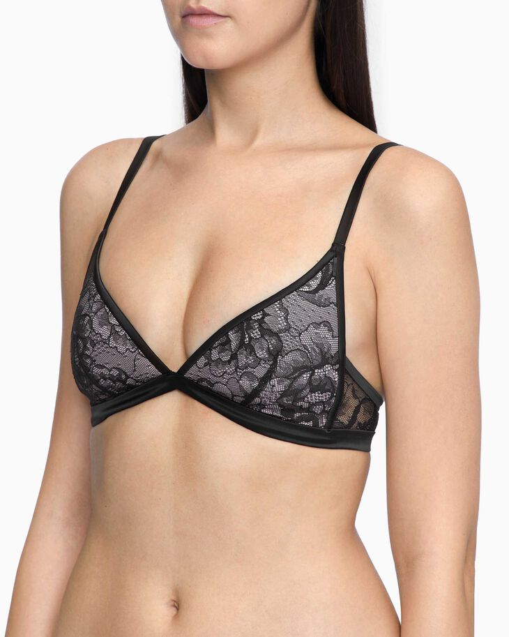 CALVIN KLEIN BLOOMING FLORAL LIGHTLY LINED TRIANGLE BRA