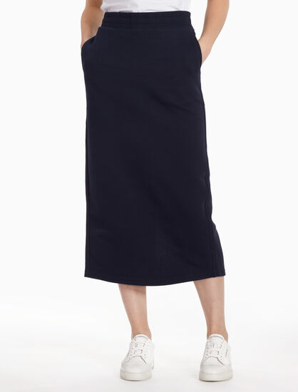 CALVIN KLEIN FRENCH TERRY TRACK SKIRT