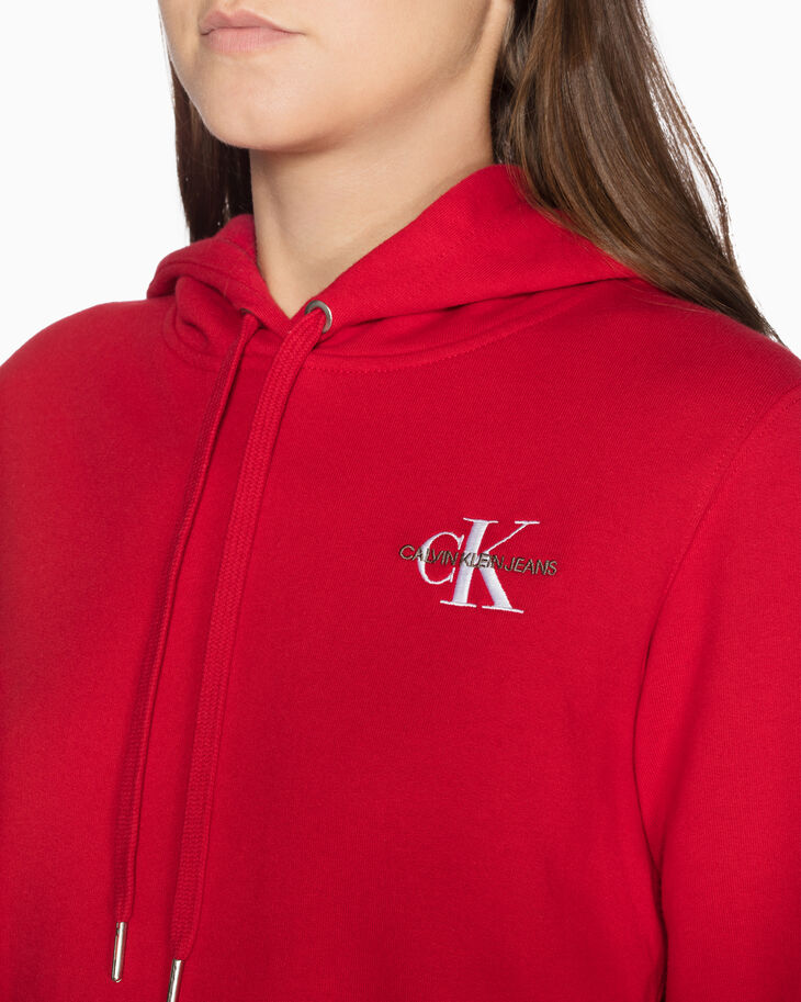 CALVIN KLEIN EMBROIDERED LOGO 후디