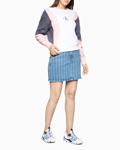 CALVIN KLEIN COLOR BLOCK スウェットシャツ