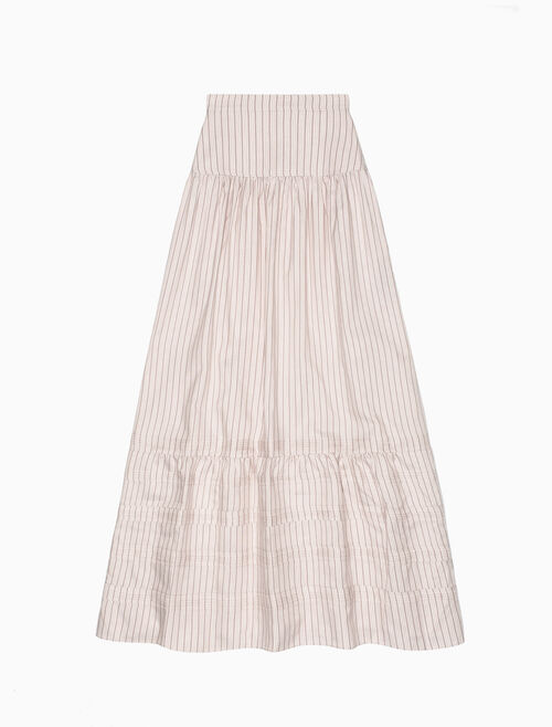 CALVIN KLEIN STRIPED LONG PIONEER SKIRT