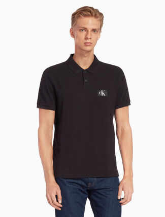CALVIN KLEIN MONOGRAM BADGE POLO SHIRT