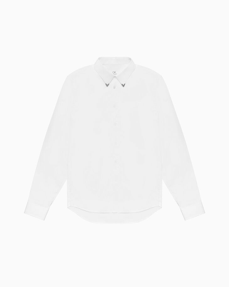 CALVIN KLEIN MEN METAL COLLAR TIP SHIRT